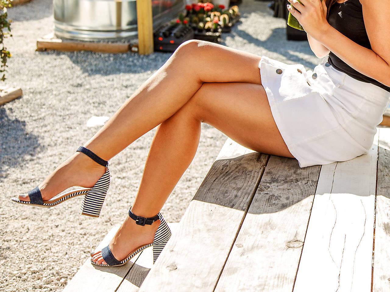 Cl By Laundry Jody Denim Sandal Women S Shoes Dsw
