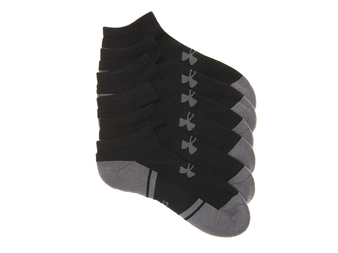0c1e67a34e9f Resistor 3 Men's No Show Socks - 6 Pack