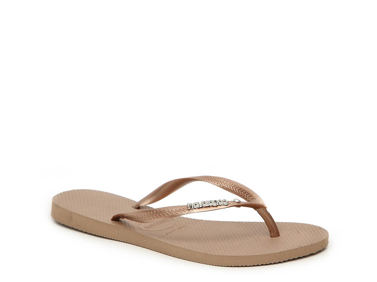c13d3b3d3 Havaianas Slim Crystal Flip Flop Women s Shoes