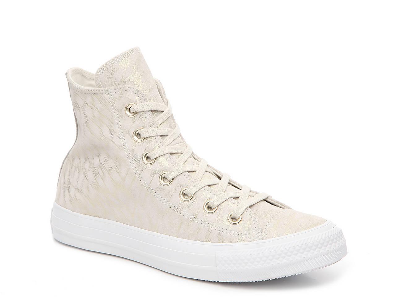 8781b6d6fadde4 Converse Chuck Taylor All Star Shimmer High-Top Sneaker - Women s ...