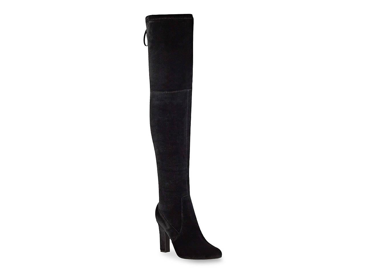 c25fca09e3e7 Unisa Saromi Over The Knee Velvet Boot Women s Shoes