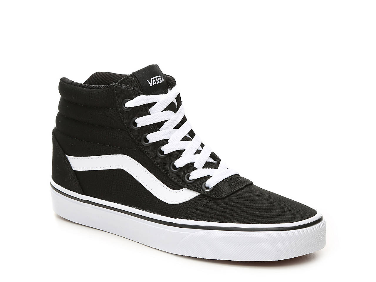 vans black and white womens