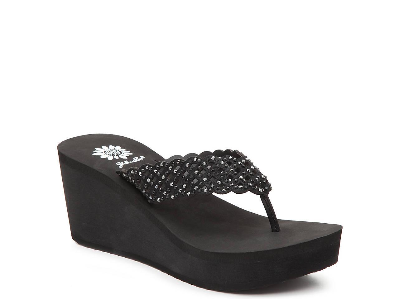 7b107a17b982 Yellow Box Deloise Wedge Sandal Women s Shoes