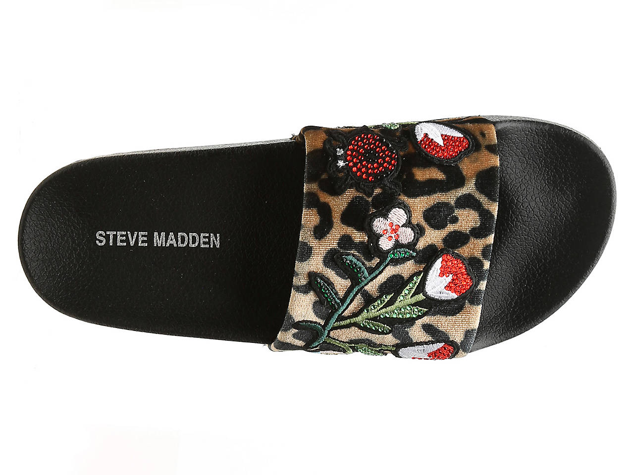 7d760148e72 Patches Velvet Slide Sandal