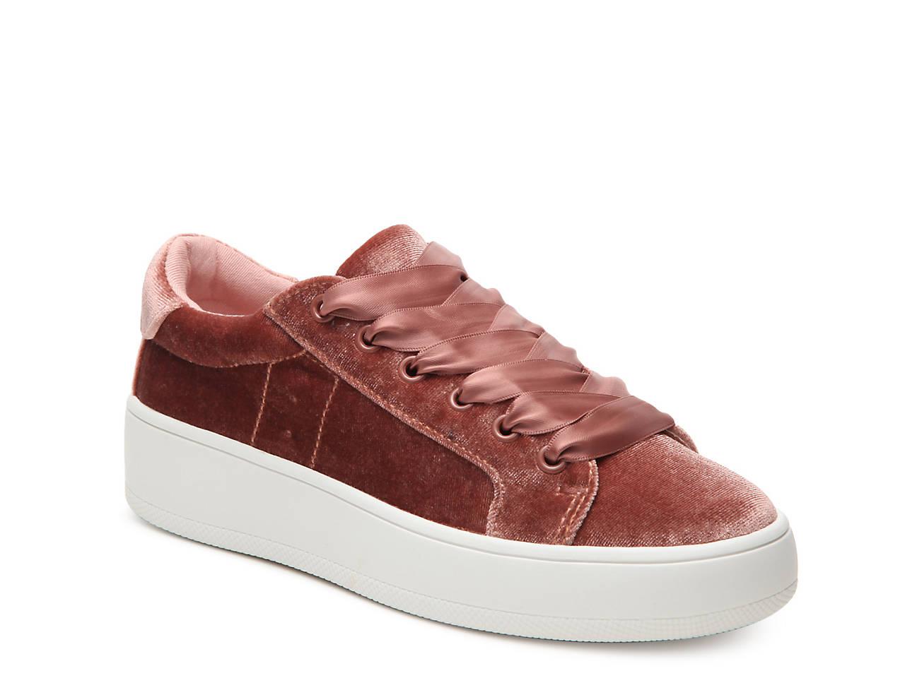 Steve Madden Bertie Blush Velvet Sneakers AKSVFHW