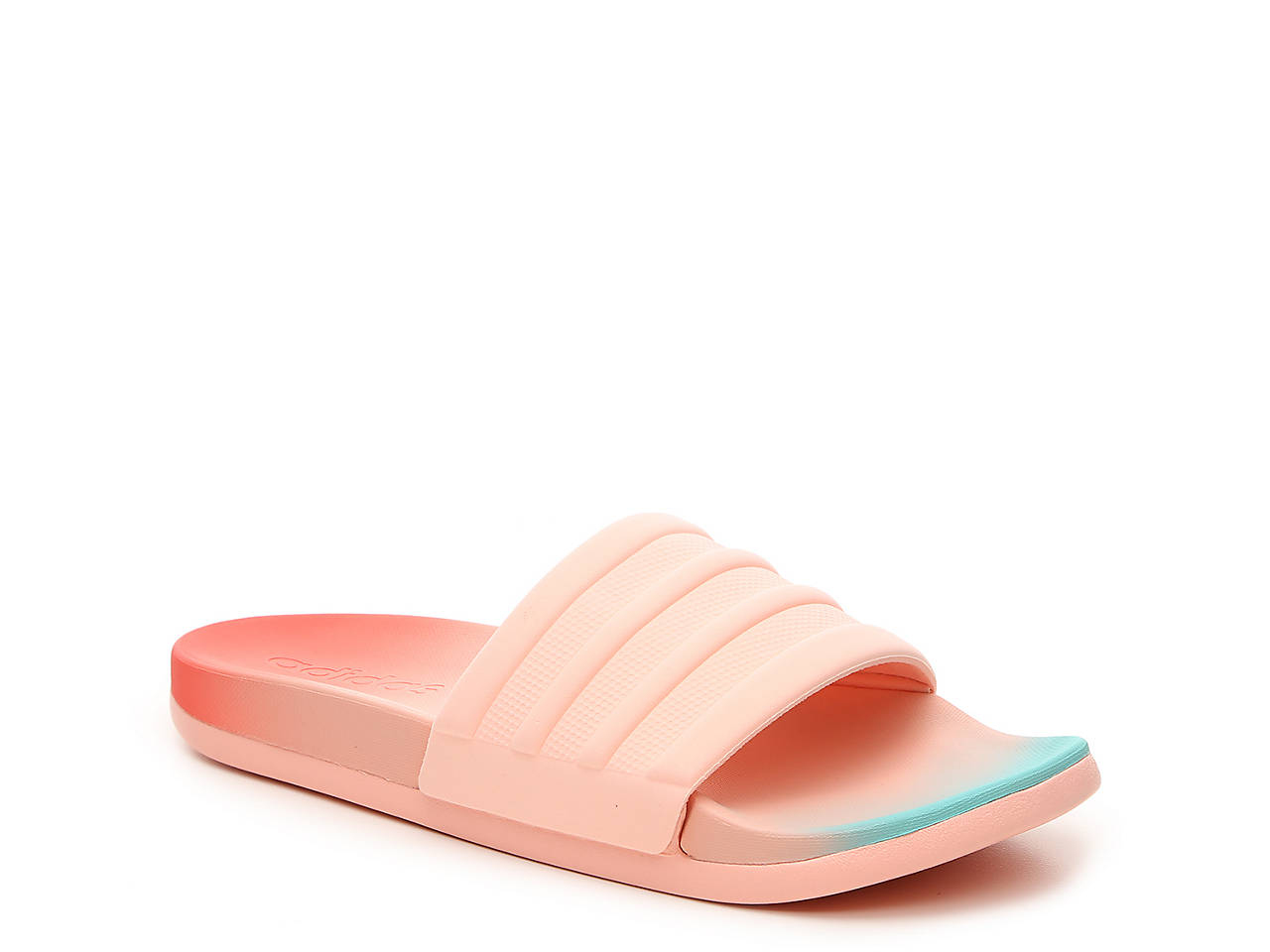 dc289fd48 adidas Adilette Cloudfoam Fade Slide Sandal Women s Shoes
