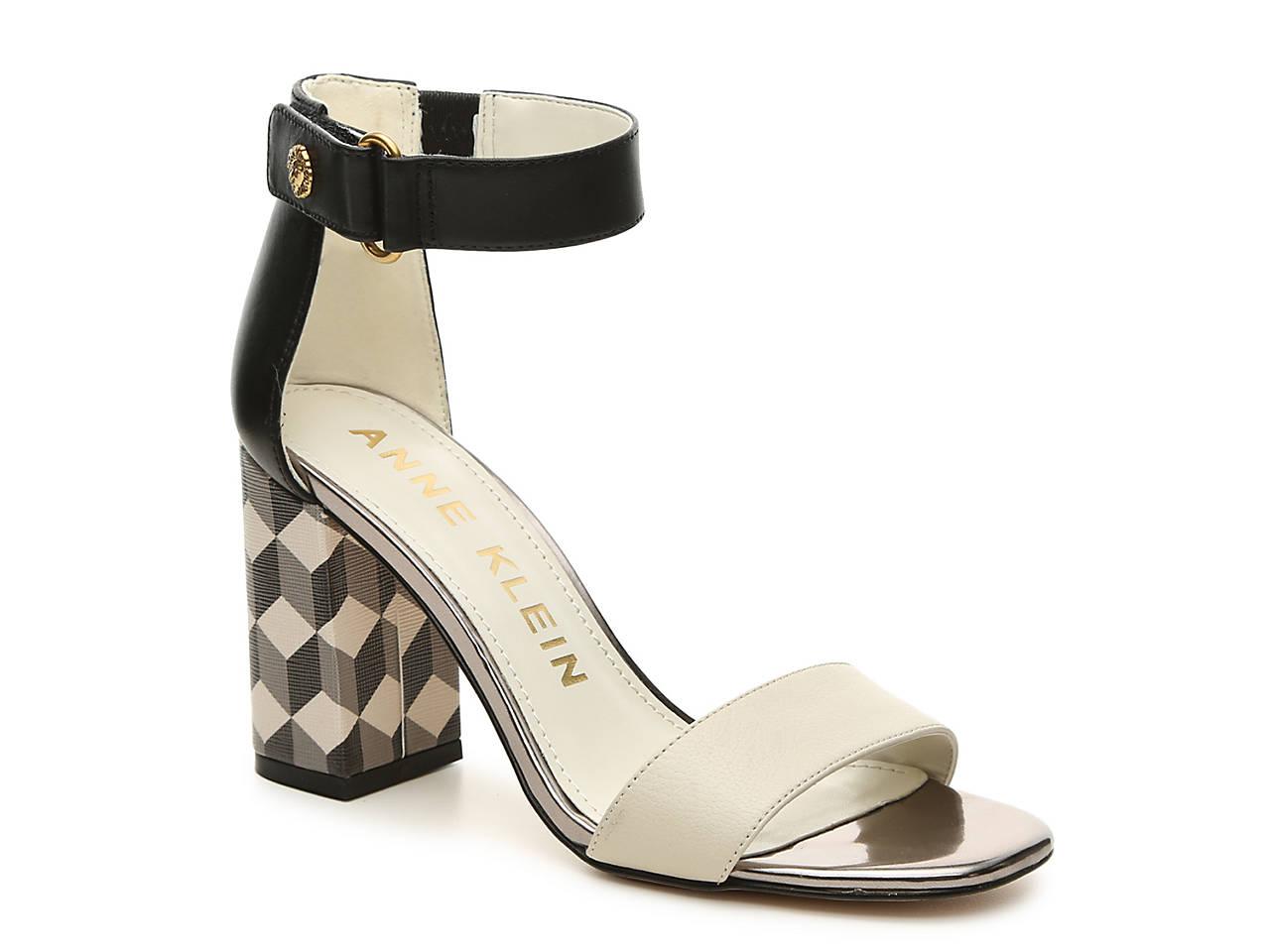 Womens sandals reddit - Anne Klein Watchme Leather Dress Sandal In Black Geometric
