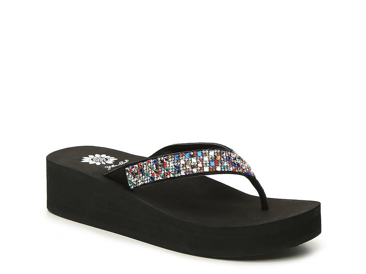 a95a38bd233 Yellow Box Scalia Wedge Sandal Women s Shoes