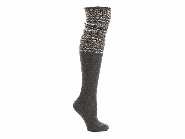 MeMoi Fuzzy Top Women's Over The Knee Socks Women's Handbags ...