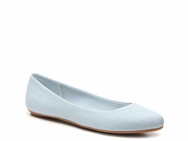 b42e2adac32 Blue. Ballet. Flats. Kelly   Katie