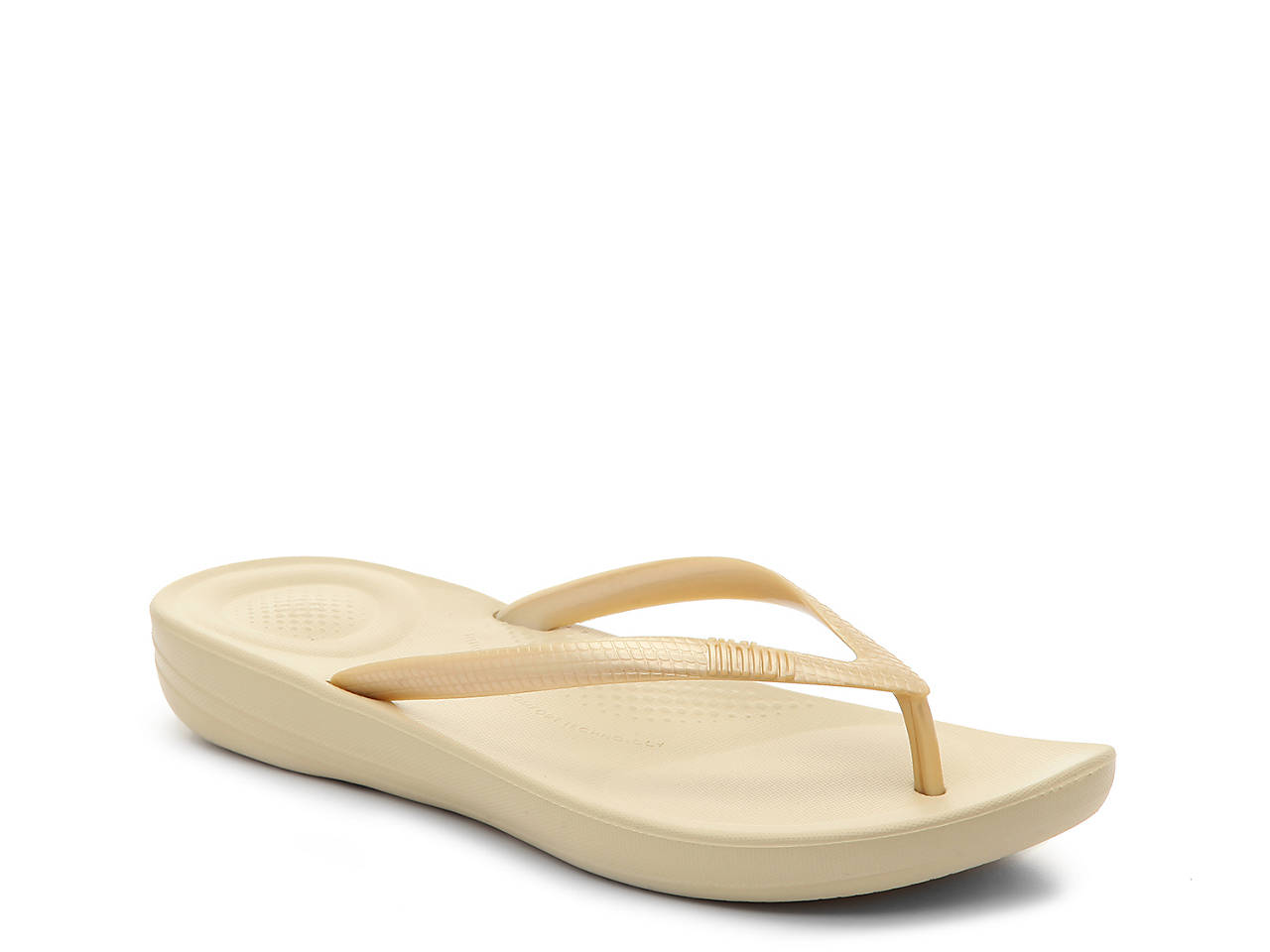fc05d822350a2 ... Womens Fitflop Iqushion Ergonomic Nude Rose Gold Flip Flops UK Size  pretty nice ca82d 2906a  iQushion Flip Flop differently b8126 260d1 ...