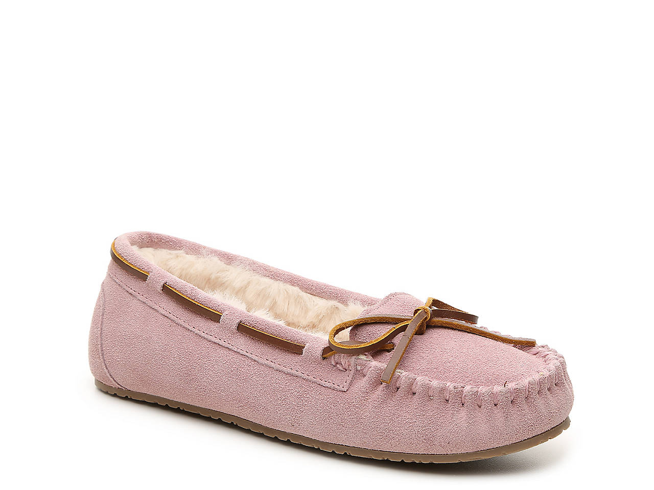 e77b982cb6ba Minnetonka Jr. Trapper Moccasin Slipper Women s Shoes