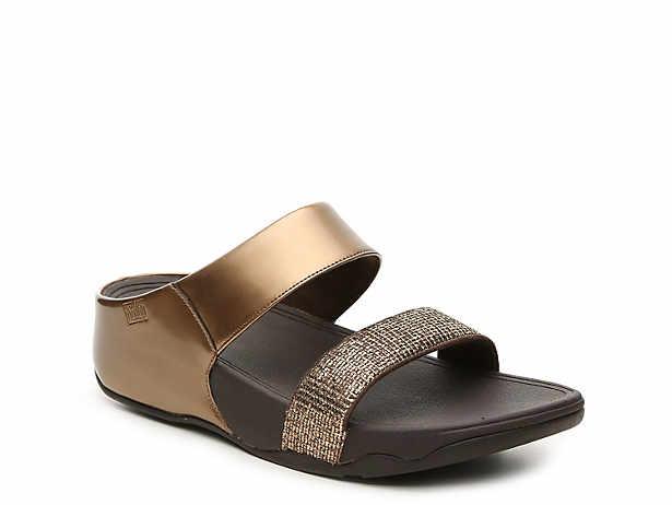 bcbc71483de3 FitFlop Lulu Super Glitz Wedge Sandal Women s Shoes