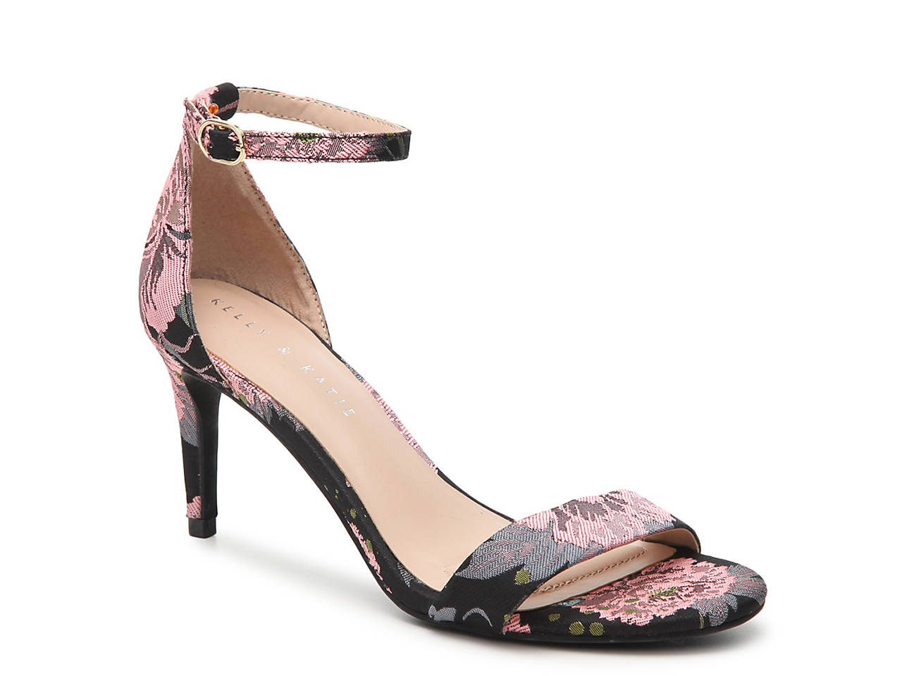 Kelly Katie Womens kristie Open Toe Black Ankle Wrap Classic Pumps Black Toe Size 8.0 2a4d72