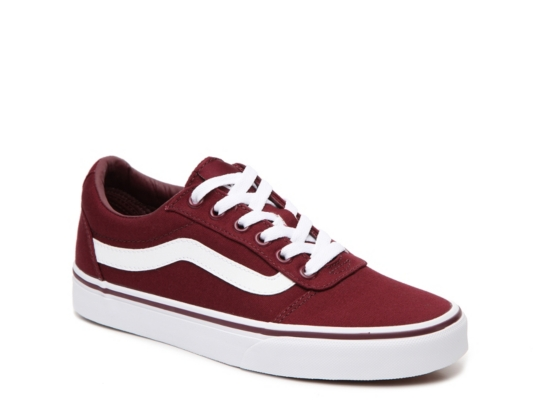 vans chaussures ladies authentic burgundy