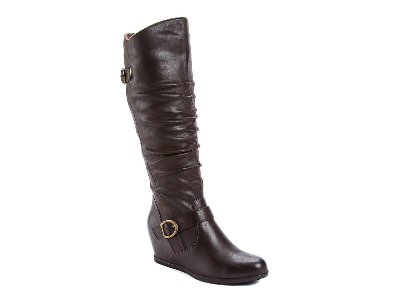d23334716d5c2 Bare Traps Tender Wide Calf Wedge Boot Women's Shoes | DSW