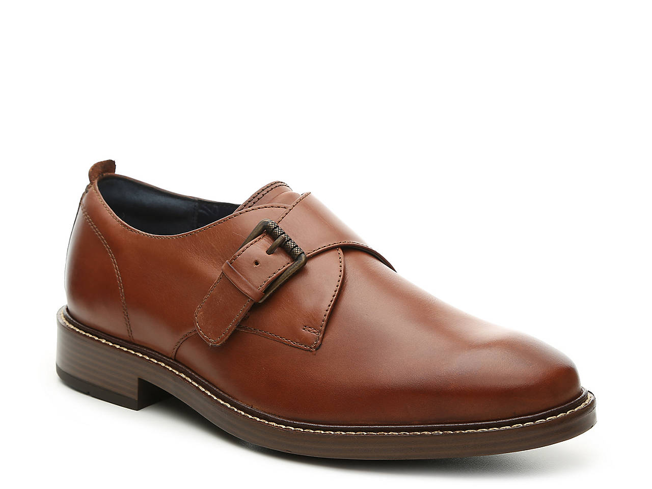Leather Kennedy Monk Strap Shoes