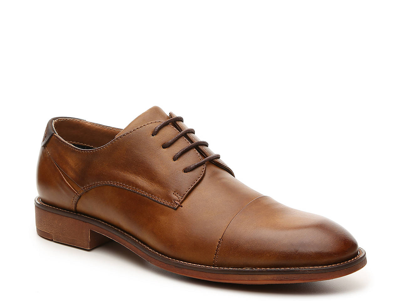 Mens Steve Madden Dressed Oxfords Shoes Brown Leather MFC46416
