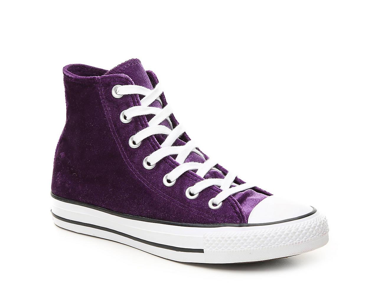 d86387e7274f Converse Chuck Taylor All Star Velvet High-Top Sneaker - Women s ...