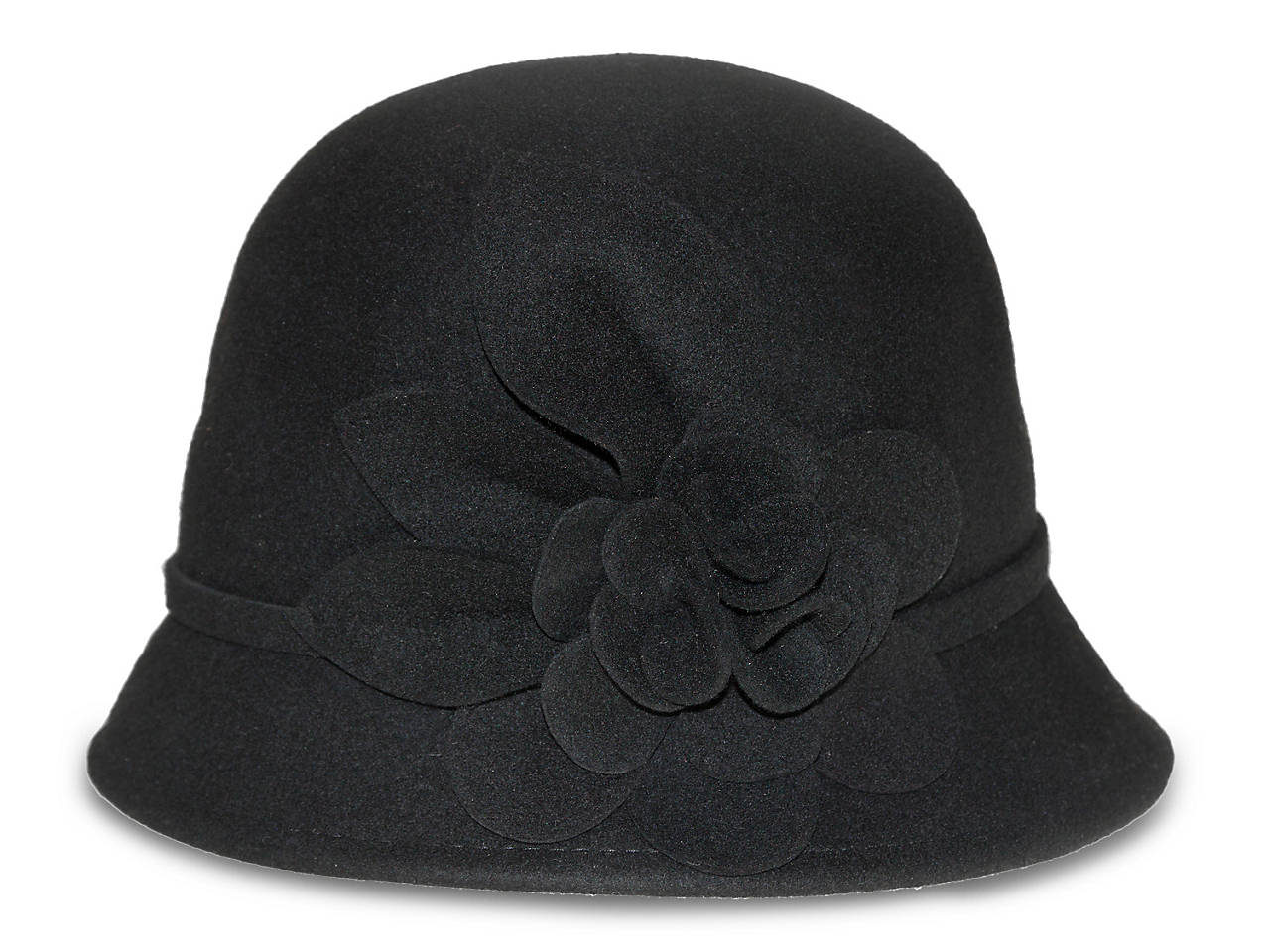 4cd94f008cf018 Nine West Felt Flower Cloche Hat Women's Handbags & Accessories | DSW