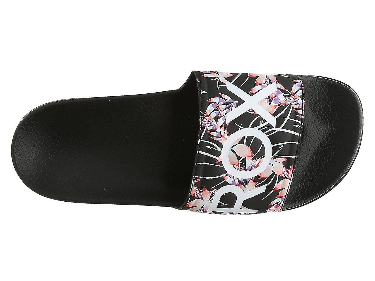 82abfdbc46c2 Roxy Slippy Slide Sandal Women s Shoes