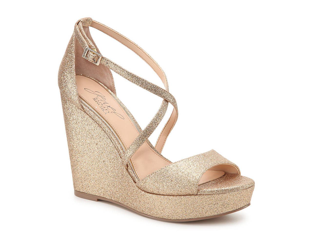 487f4743956f Jewel Badgley Mischka Averie Wedge Sandal Women s Shoes