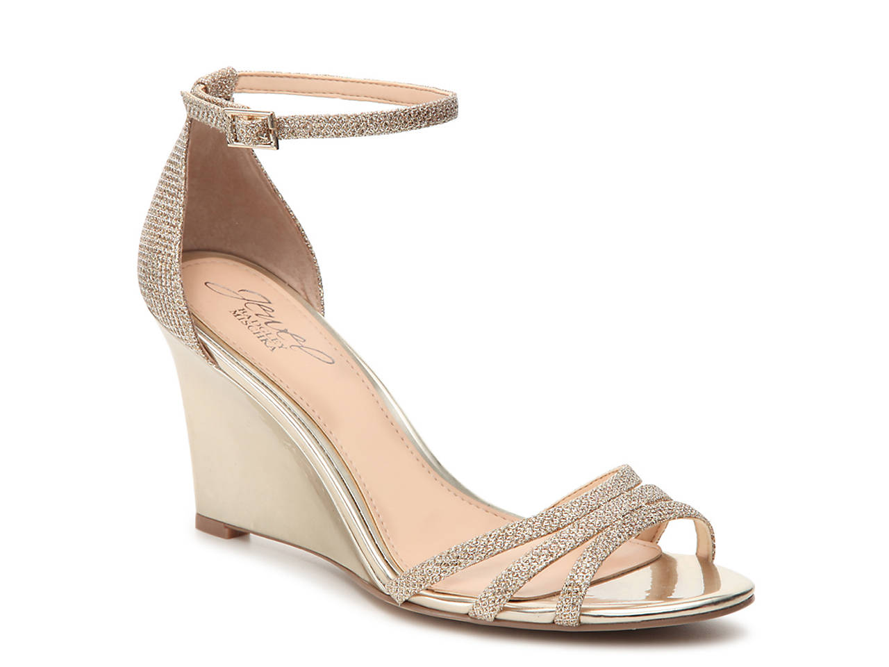 New Arrival Sale Online Badgley Mischka Metallic Crossover Sandals Cheap Sale Big Discount From China Online Y4BcQhk
