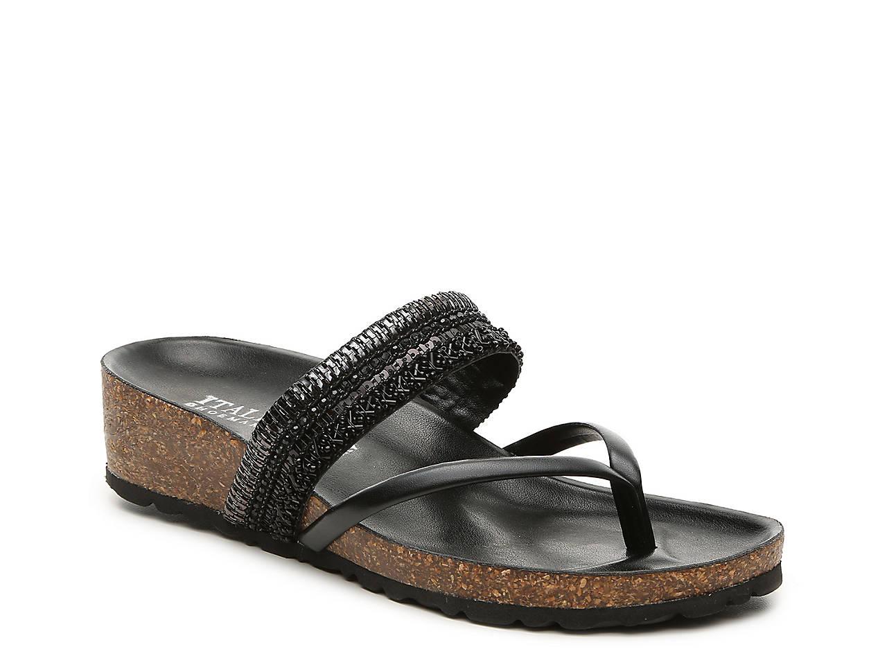 95fe09888898 Italian Shoemakers Castle Wedge Sandal Women s Shoes