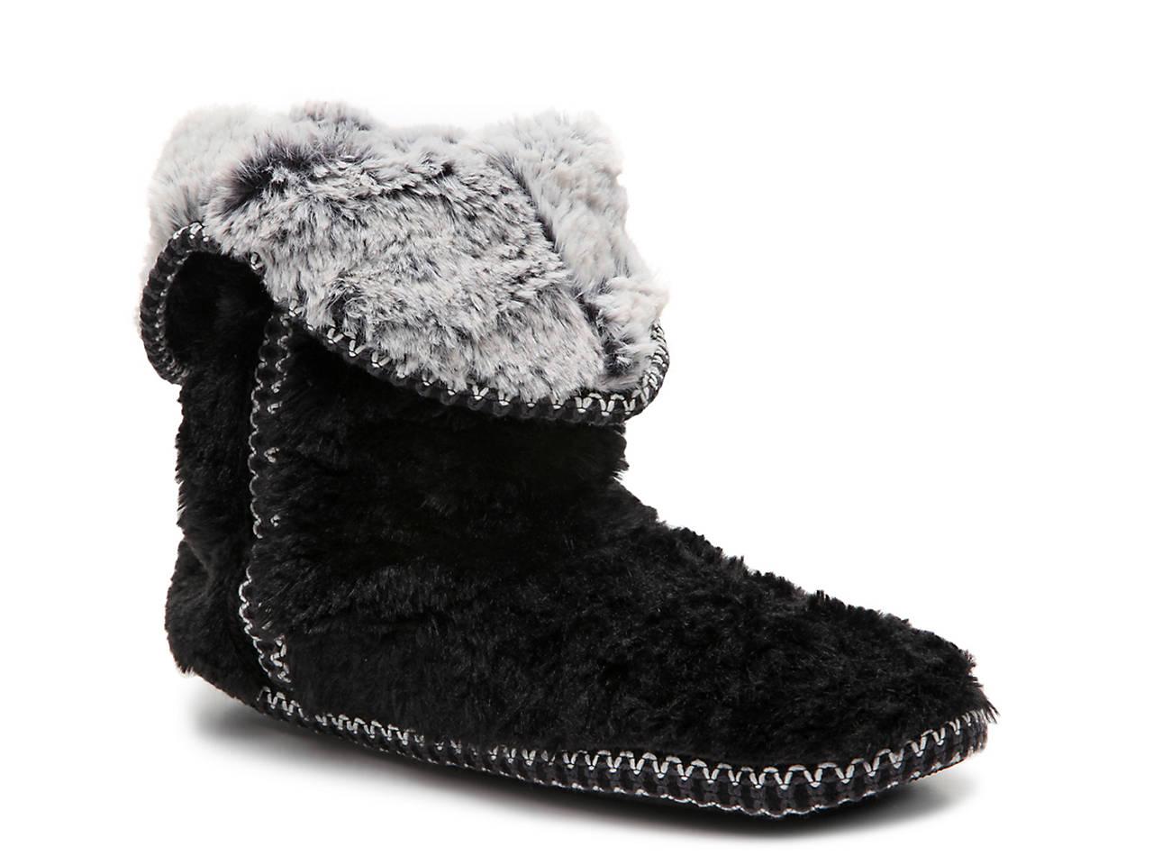 7069e9f45708 Dearfoams Pile Bootie Slipper Women s Shoes