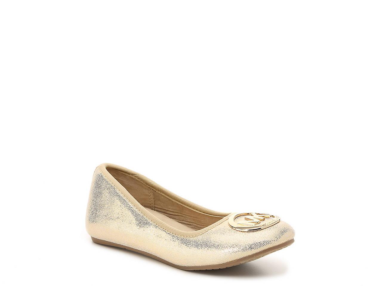 ff5c9d8f14e Michael Michael Kors Faye Ria Toddler   Youth Ballet Flat Kids Shoes ...