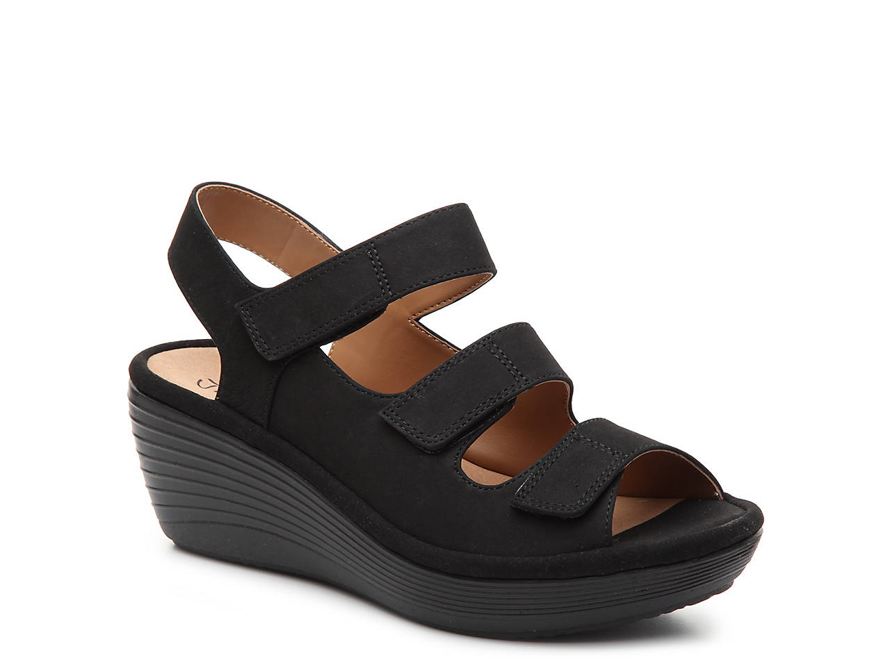 Clarks Reedly Juno Wedge Sandal (Women's) sNruSomSIU