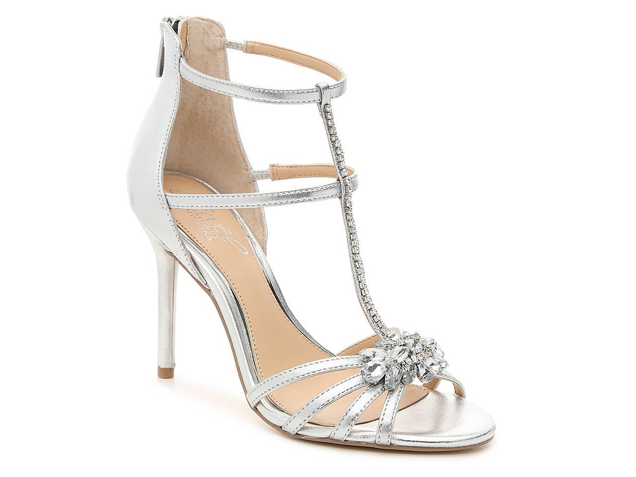 Jewel Badgley Mischka Hazel Embellished T-Strap Sandal Lx3luW