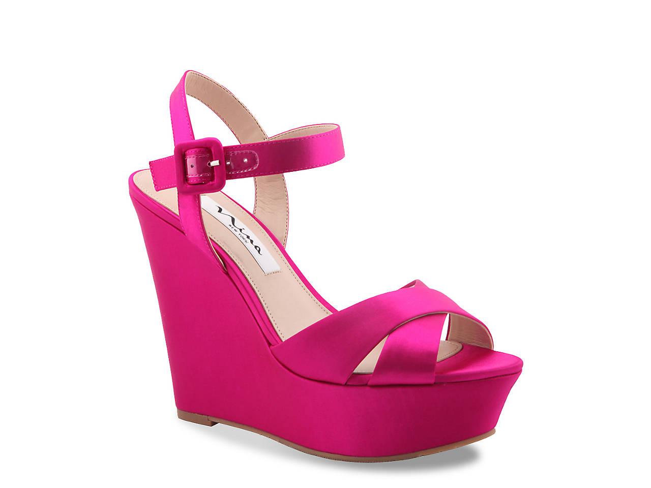 1d01cbeb6ac Nina Jinjer Wedge Sandal Women s Shoes