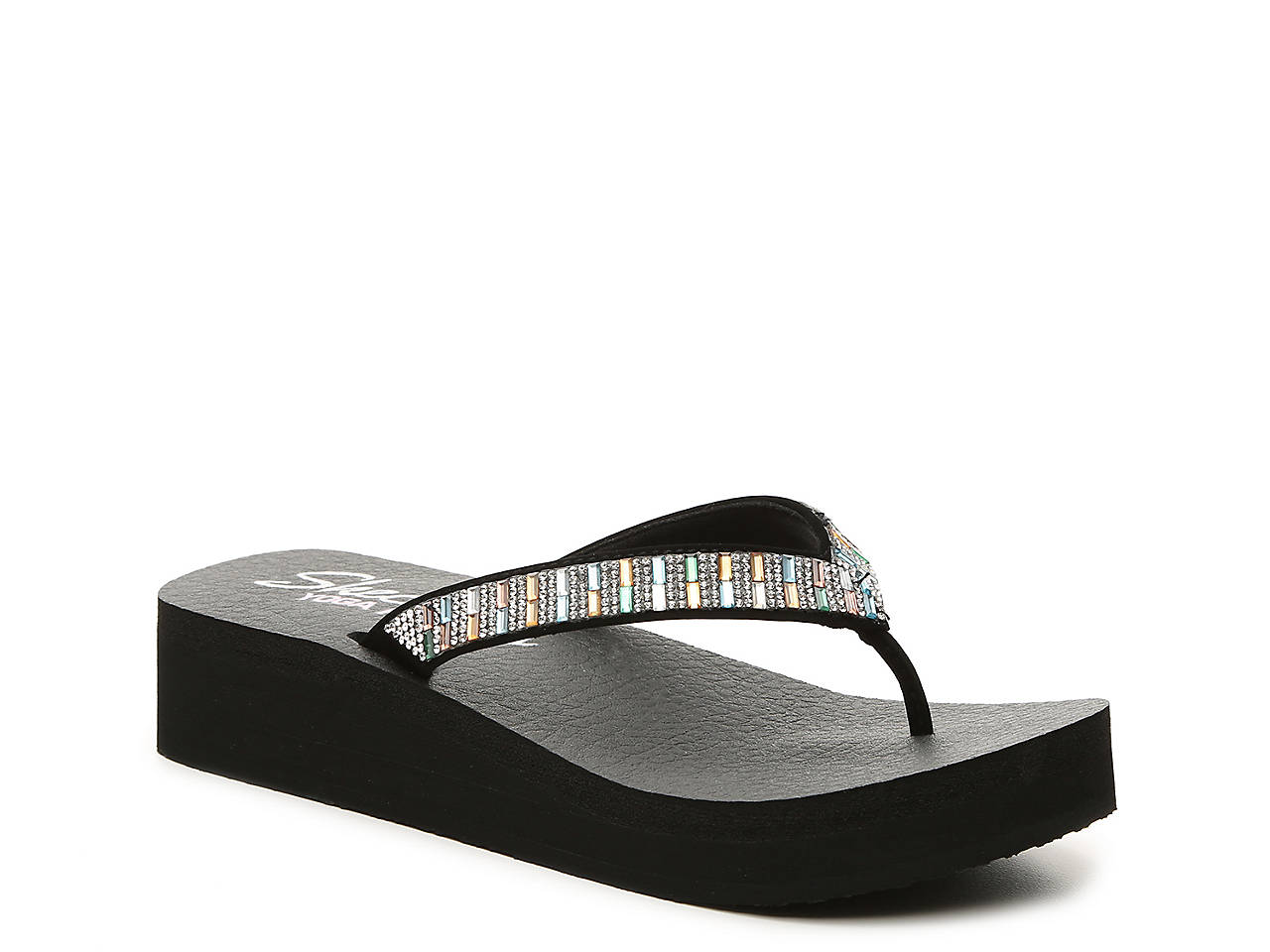 b85e64e67d0 Skechers Cali Vinyasa Paradise Found Wedge Sandal Women s Shoes