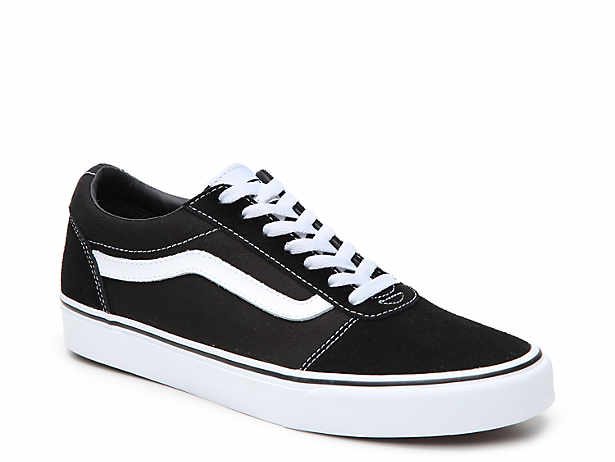 ladies black slip on vans