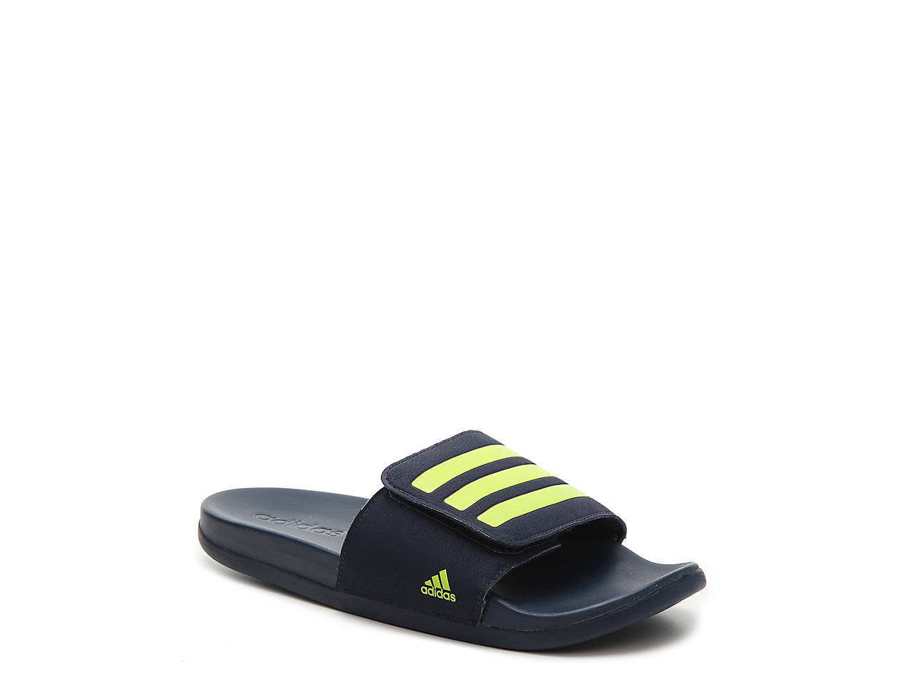 1f984e1ce442c adidas Adilette Cloudfoam Plus Youth Slide Sandal Kids Shoes