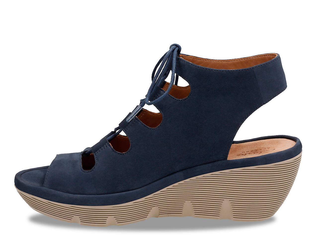 588fb5d044c Clarks Clarene Grace Wedge Sandal Women s Shoes