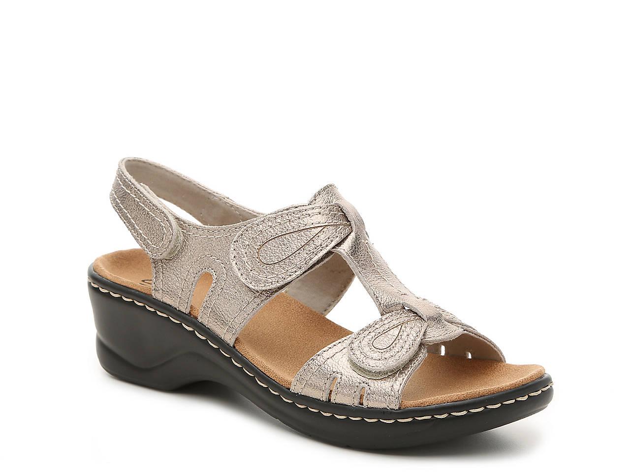 Clarks Lexi Walnut Wedge Sandal Women s Shoes