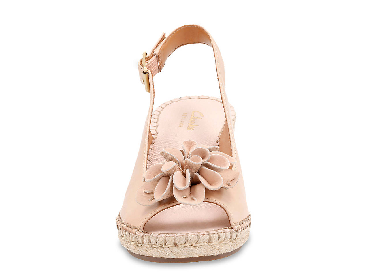 fafd5f3ad56a Clarks Petrina Bianca Wedge Sandal Women s Shoes