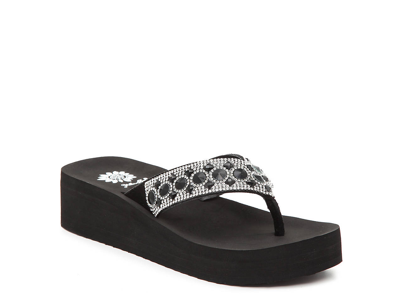 4092c88878d79f Yellow Box Rise Wedge Sandal Women's Shoes | DSW