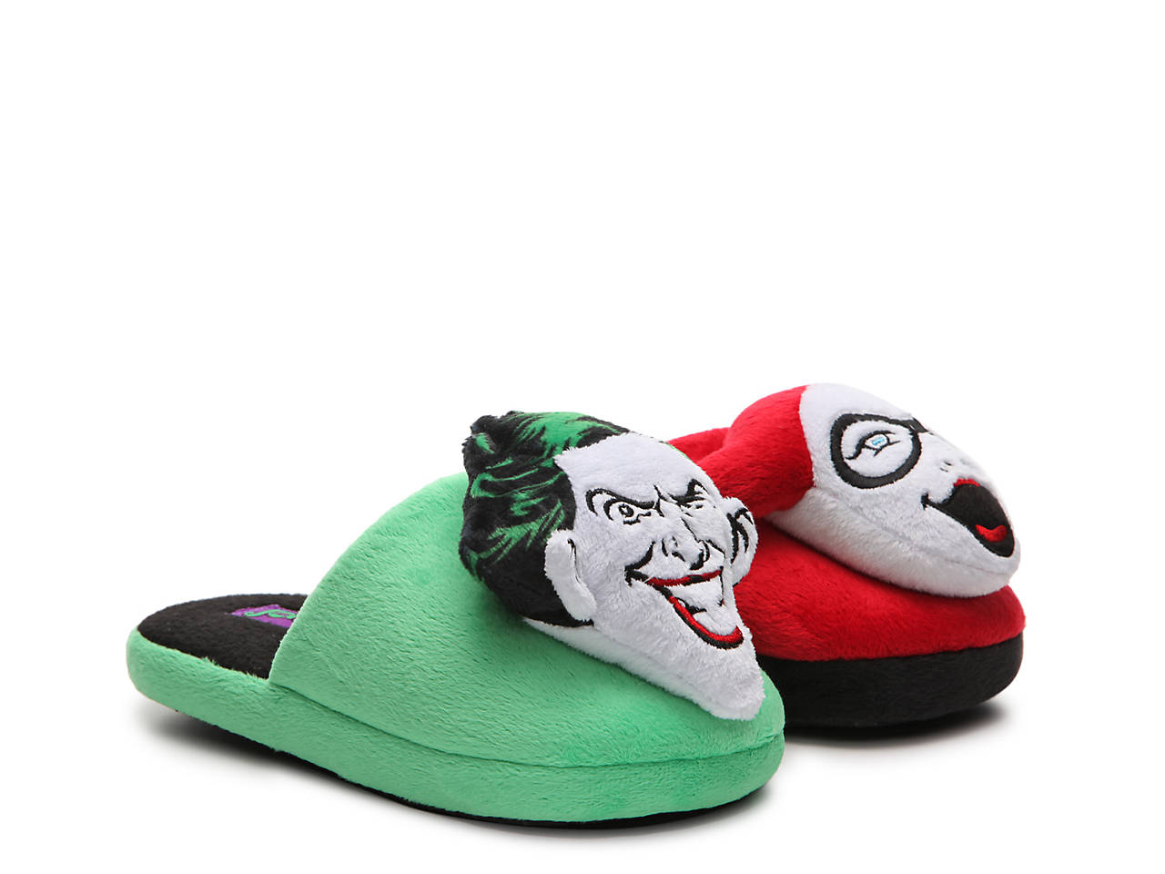 a2d80bf41485 Ground Up Joker   Harley Quinn Youth Slipper Kids Shoes