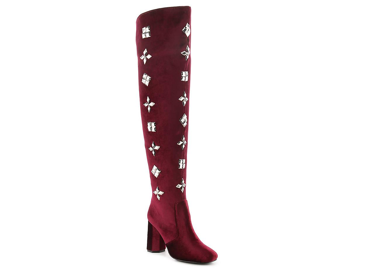 3c73201af49 Penny Loves Kenny Kevel Velvet Over The Knee Boot Women s Shoes