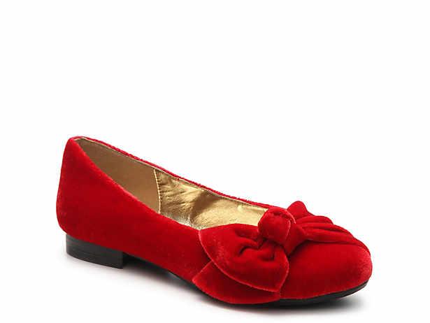 Bustle Bow Velvet Ballet Flat. Bellini