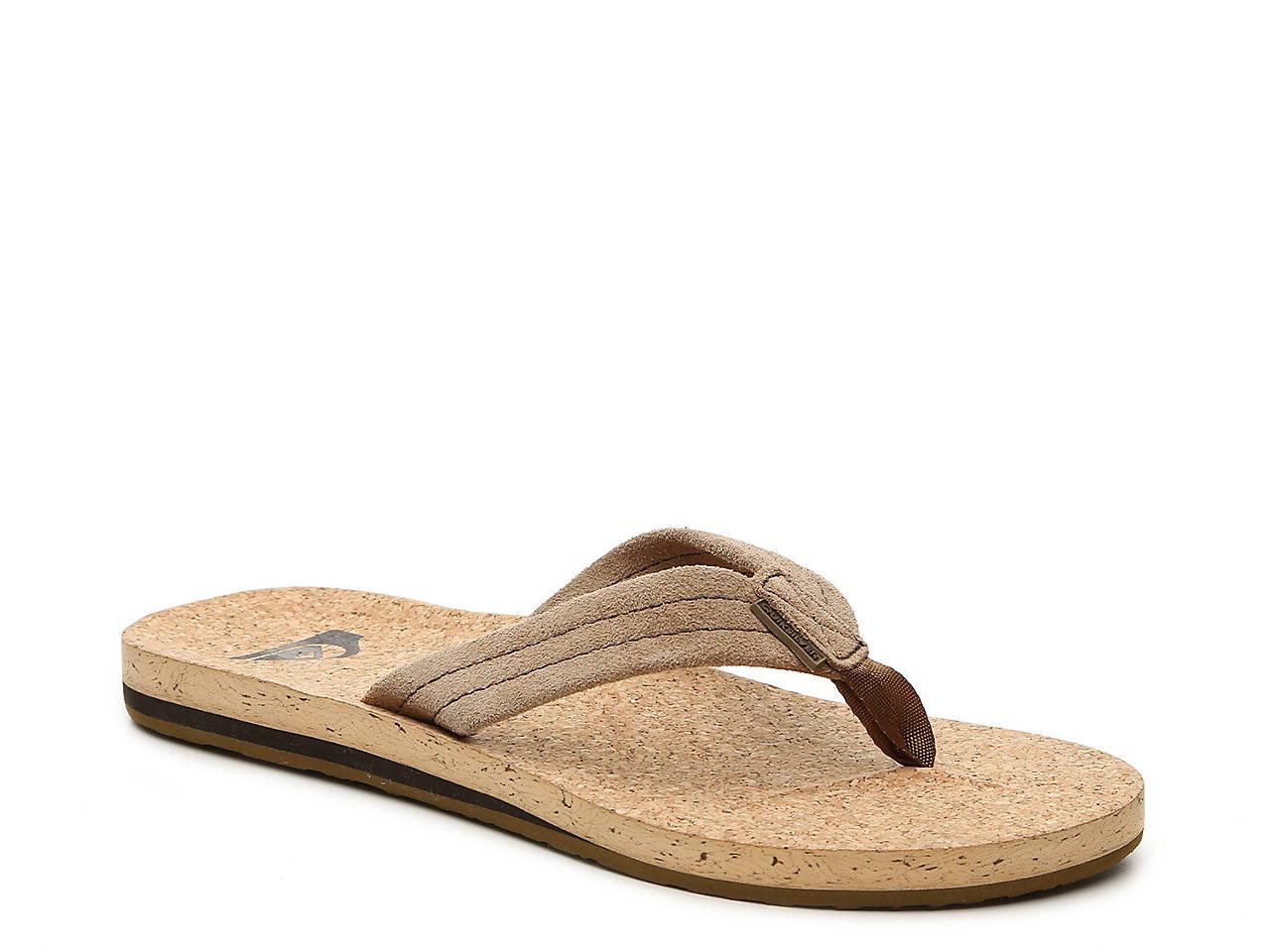 cd9f35d54e4 Quiksilver Carver Cork Flip Flop Men s Shoes