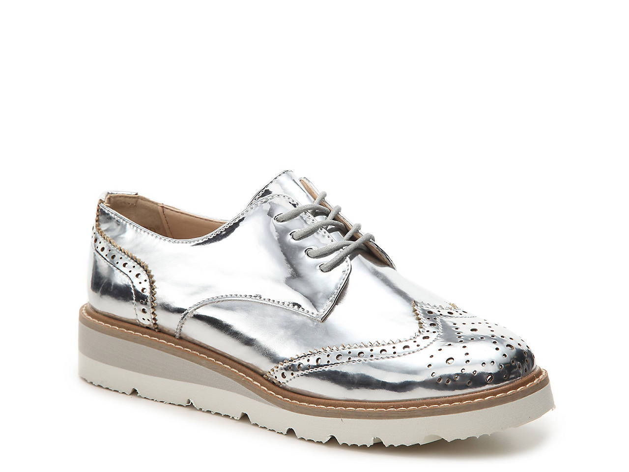 40bb4cfa321d Wanted Dexter Wedge Wingtip Oxford Women s Shoes
