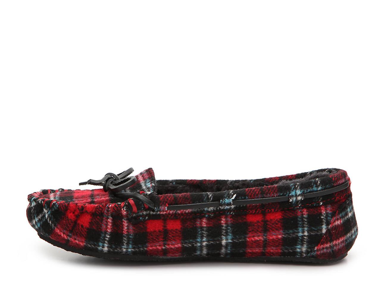 b8dfb3314b3 Minnetonka Plaid Cally Slipper Women s Shoes
