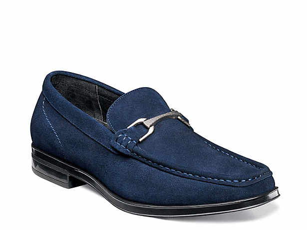 Man's Blue Leather Loafer 415 Size