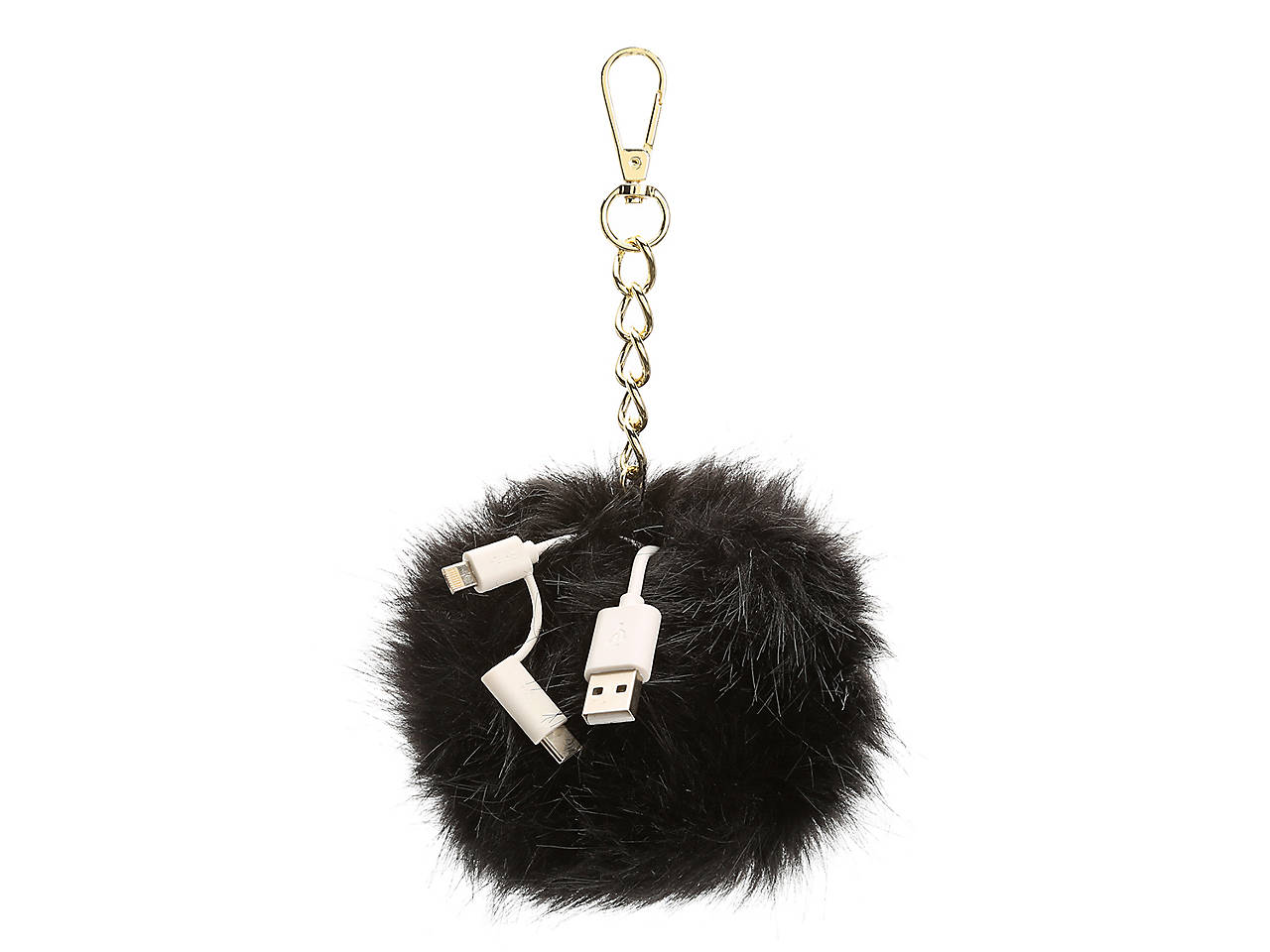 e30ea4b627cb JADE   DEER Faux Fur Pom Charging Bag Charm Women s Handbags ...