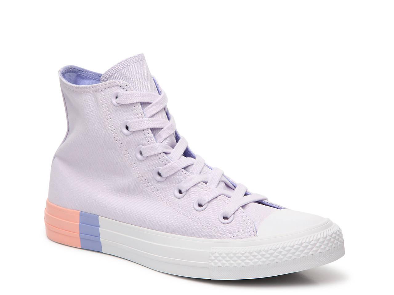 7917e90436e659 Converse Chuck Taylor All Star Hi Block High-Top Sneaker - Women s ...