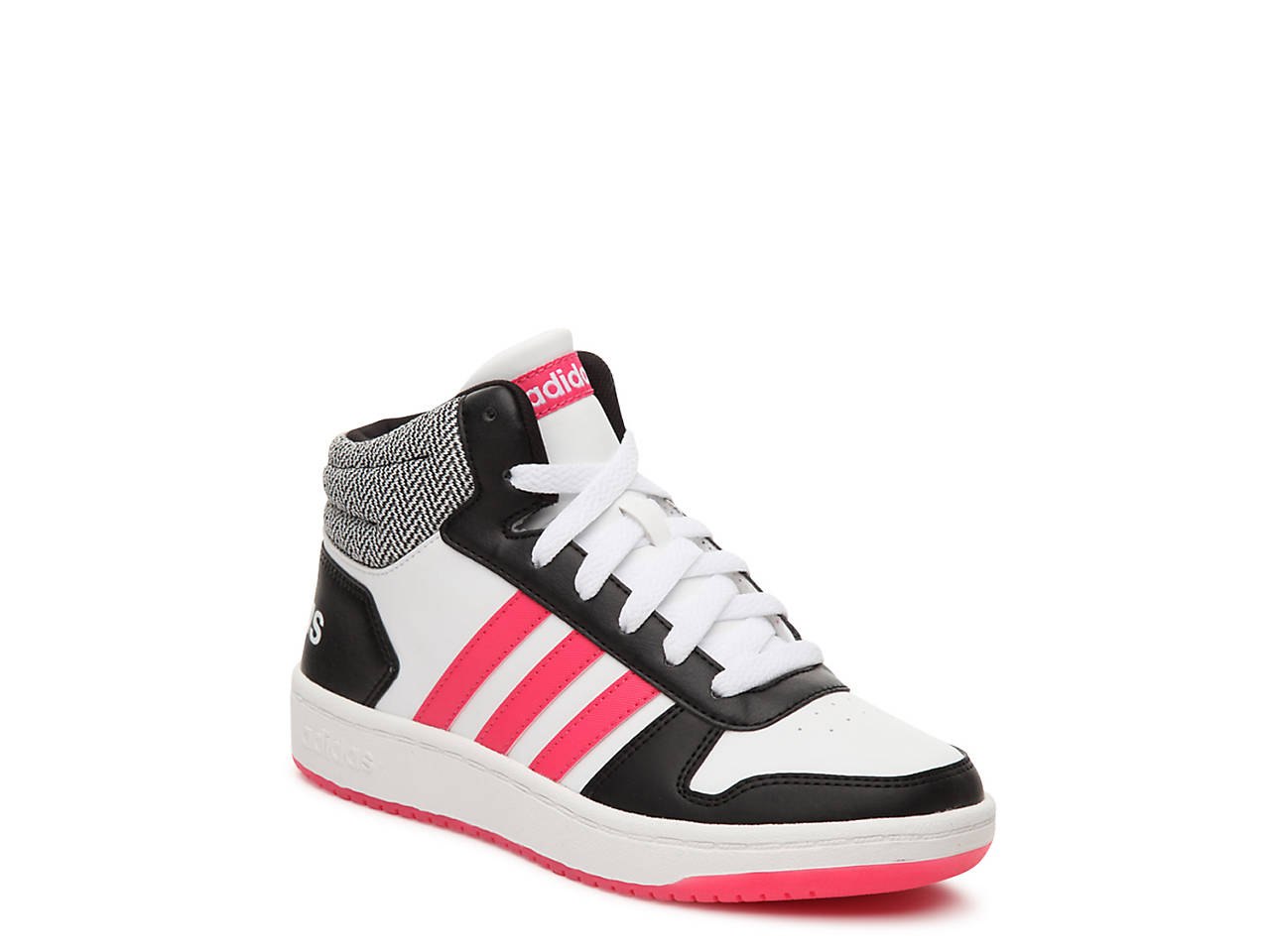 93dd0a071d0f adidas Hoops Mid 2 Toddler   Youth High-Top Sneaker Kids Shoes